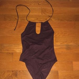 Maroon body suit forever 21